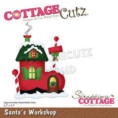 CottageCutz Dies - Santa's Workshop, 2.5 inch X3.5 inch