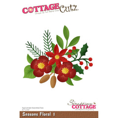 CottageCutz Dies - Seasons Floral 1, 4.7 inch X4.2 inch