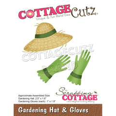 CottageCutz Dies - Gardening Hat & Gloves 1in  To 2.5in