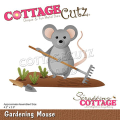 CottageCutz Dies - Gardening Mouse 4.2in x 2.9in