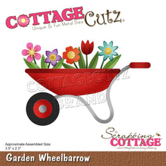 CottageCutz Elites Die - Garden Wheelbarrow 3.5in x 2.3in
