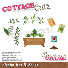 CottageCutz Elites Die - Planter Box & Seeds 2.3in To .8in