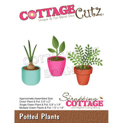 CottageCutz Elites Die - Potted Plants 2in To .8in