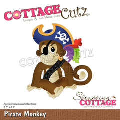 CottageCutz Dies - Pirate Monkey 2.7in x 3.1in