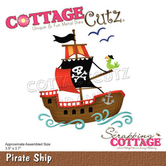 CottageCutz Dies - Pirate Ship 3.5in x 3.7in