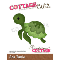CottageCutz Dies - Sea Turtle 2.6in x 2.4in