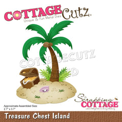 CottageCutz Dies - Treasure Chest Island 2.7in x 3.7in