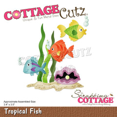 CottageCutz Dies - Tropical Fish 3.4in x 3.5in