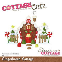 "CottageCutz Dies Gingerbread Cottage 4.3""X3.5"""