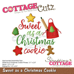 "CottageCutz Dies Sweet as a Christmas Cookie 3.1"" To 0.5"""