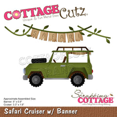 "CottageCutz Dies - Safari Cruiser  with Banner 5"" To 0.9"""
