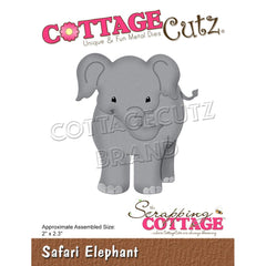 "CottageCutz Dies - Safari Elephant 2""x 2.3"""