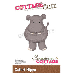 "CottageCutz Dies - Safari Hippo 1.3""x 2"""