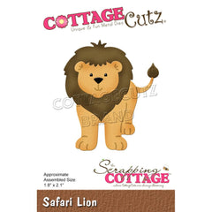 "CottageCutz Dies - Safari Lion 1.8""x 2.1"""