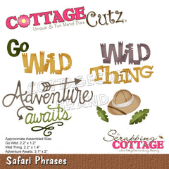 "CottageCutz Dies - Safari Phrases 1.2"" To 3.1"""