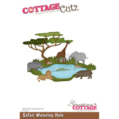 "CottageCutz Dies - Safari Watering Hole 4""x 2.8"""