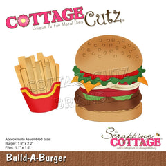 "CottageCutz Dies - Build-A-Burger 1.1"" To 2.2"""