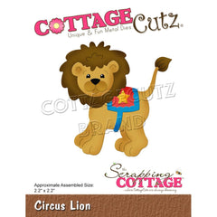 "CottageCutz Dies - Circus Lion 2.2""X2.2"""
