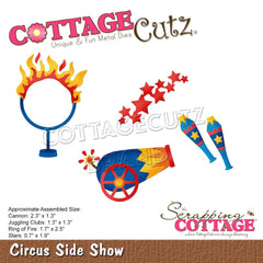 "CottageCutz Dies - Circus Side Show .7"" To 2.5"""