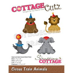 "CottageCutz Dies - Circus Train Animals 1"" To 1.2"""