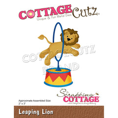 "CottageCutz Dies - Leaping Lion 2""X3"""