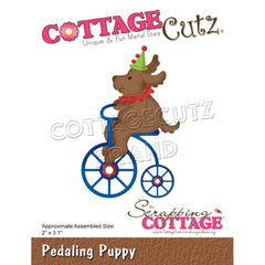 "CottageCutz Dies - Pedaling Puppy 2""X3.1"""
