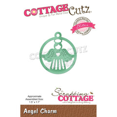 CottageCutz Dies - Angel Charm, 1.5 inch X1.7 inch