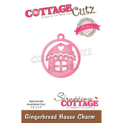 CottageCutz Dies - Gingerbread House Charm, 1.5 inch X1.7 inch