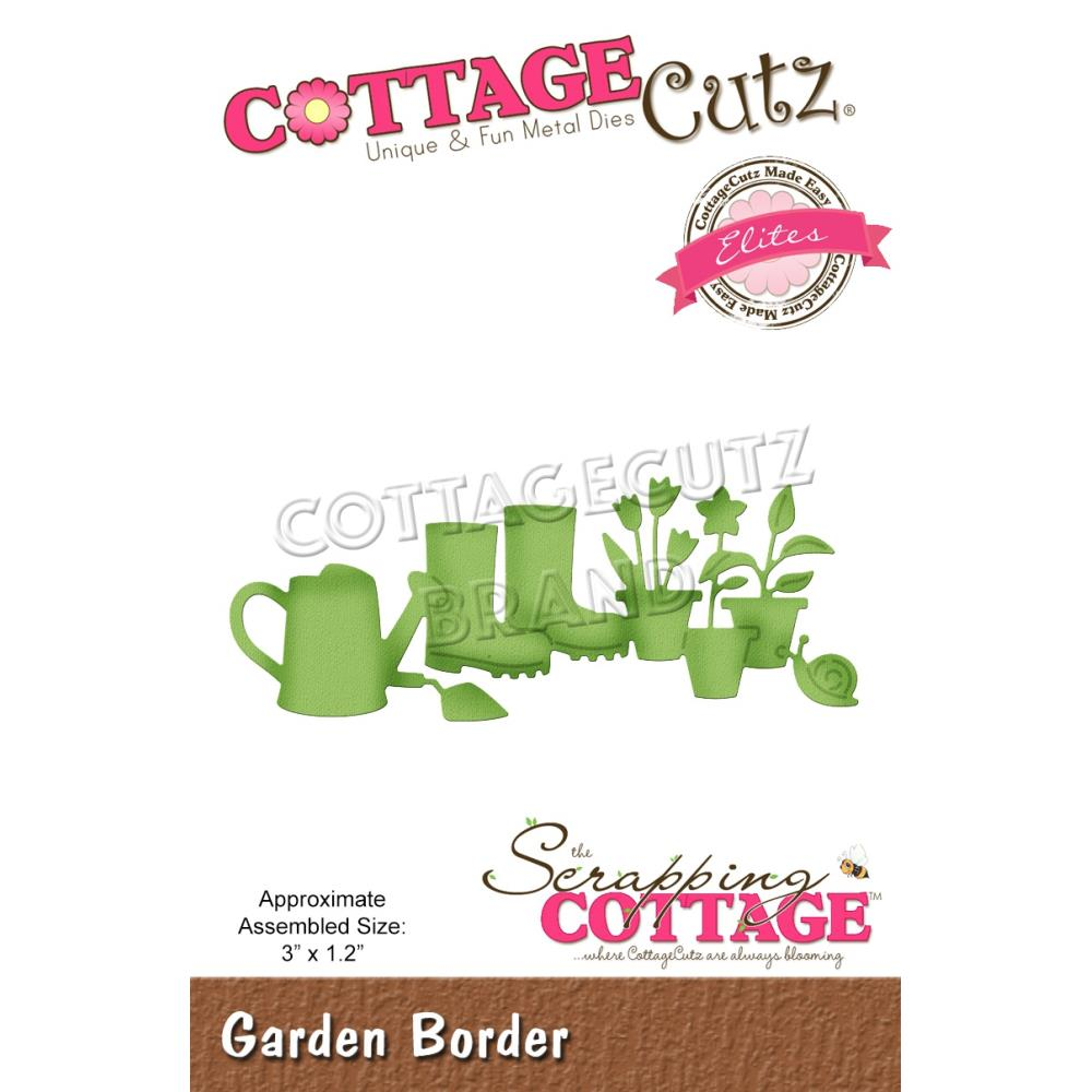 CottageCutz Elites Die - Garden Border 3in x 1.2in