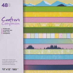 Crafter's Companion Printed Single-Sided Paper Pad 12in x 12in - Home Away From Home