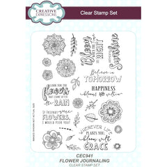 Creative Expressions - Flower Journaling A5 Clear Stamp Set