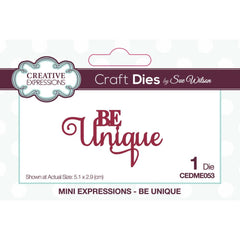 Creative Expressions Craft Dies By Sue Wilson Mini Expressions - Be Unique