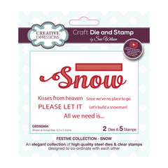 Creative Expressions Craft Die And Stamp Set By Sue Wilson - Snow