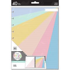 Me & My Big Ideas - Happy Planner Classic Fill Paper 40 pack - Pastel Colours, Design Class