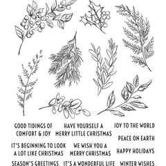 Tim Holtz Cling Stamps 7in x 8.5in - Sketch Greenery