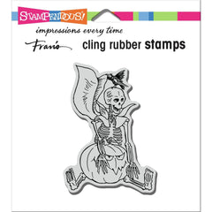 Stampendous Cling Stamp - Seated Skelly