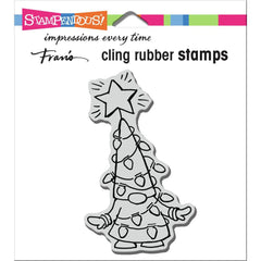 Stampendous Cling Stamp - Gnome Lights