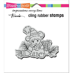 Stampendous Cling Stamp - Apple Mouse