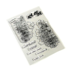 Elizabeth Crafts Clear Stamps - Words & Layers-Art Journal 4in x 6in
