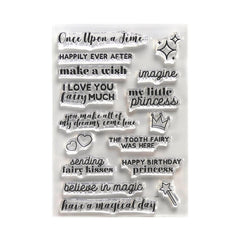 Elizabeth Crafts Clear Stamps - Once Upon A Time Sentiments