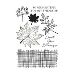 Kaisercraft Clear Stamp 6in x 4in - Fallen Leaves