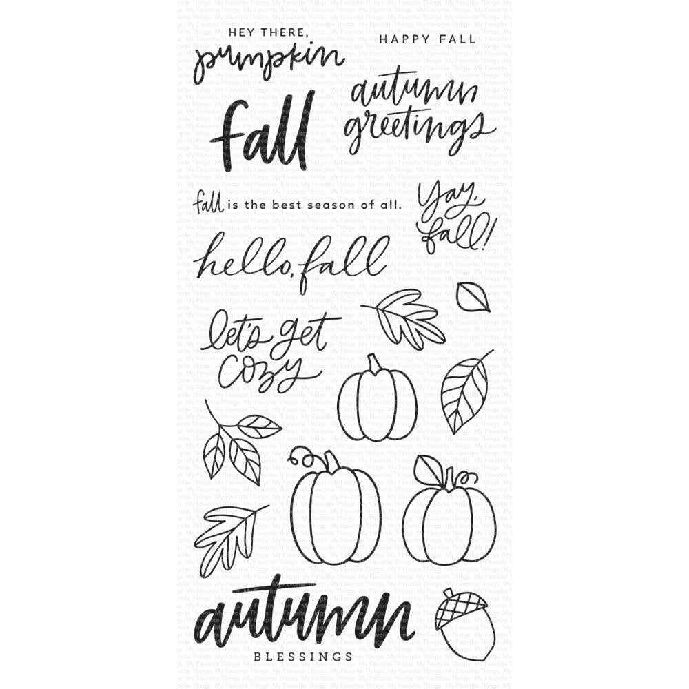 My Favorite Things Clear Stamps 4in x 8in - Autumn Blessings