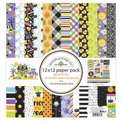 Doodlebug Double-Sided Paper Pack 12in x 12in 12 pack  - Ghost Town