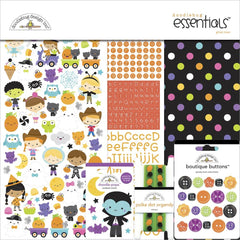 Doodlebug Essentials Page Kit 12in x 12in - Ghost Town