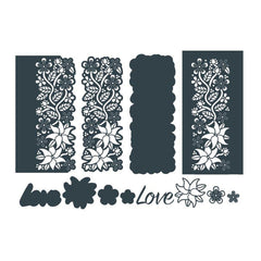 THE PAPER BOUTIQUE Cutting Dies CHERISH EVERY MOMENT 5 Dies PBDDC1021 Hearts