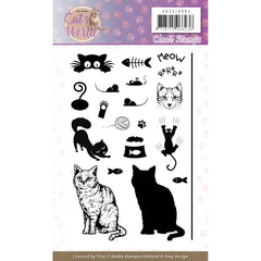 Find It Trading Amy Design - Clear Stamps - Cat's World