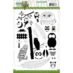 Find It Trading Amy Design Clear Stamps - Amazing Owls
