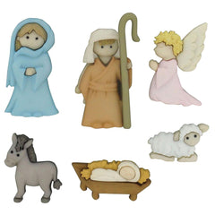 Dress It Up Holiday Embellishments - Nativity