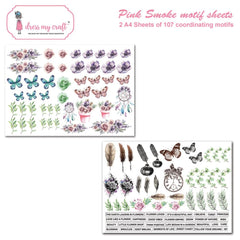 Dress My Crafts - Fussy Cutting Image Sheet 240gsm A4 2 pack - Pink Smoke
