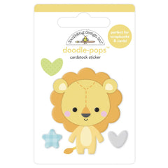 Doodlebug Doodle-Pops 3D Stickers - Lovable Lion, Special Delivery